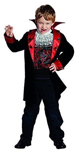 Jungen Kostüm Vampir Für Süße - Generique - Süßes Vampir-Kostüm für Jungen schwarz-rot 98/104 (3-4 Jahre)