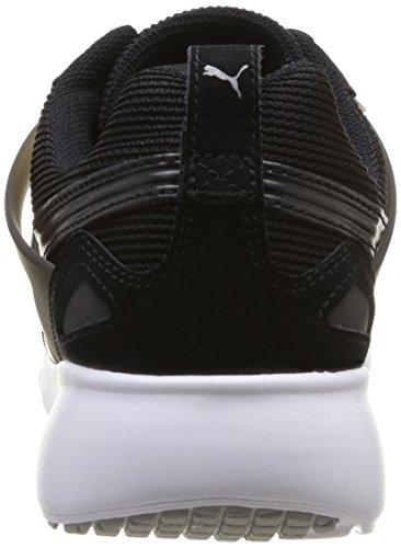 Puma  Arial, Sneakers basses mixte adulte Noir (Bk/Wh)