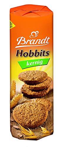 Brandt Hobbits kernig, 250g - knackiger Vollkornkeks mit Haferflocken - ballaststoffreiches Gebäck für die ganze Familie - in praktischer Keksrolle