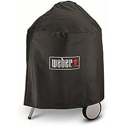 Weber 7143 Housse de Luxe pour Barbecue à Charbon , Noir, 57 cm