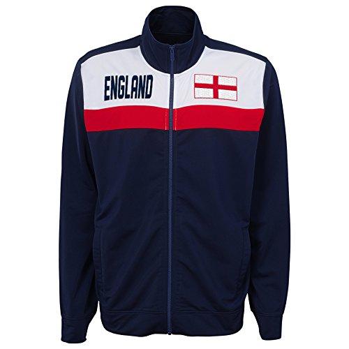 Outerstuff International Soccer England Track Jacket, X-Large, Navy England Track Jacket