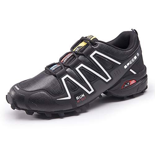 Yujingc Uomo di Grandi Dimensioni 39-48 Scarpe da Trekking Traspirante in Mesh da Esterno Basse Scarpe da Camminata nordiche da Trekking Campeggio Calzature da Alpinismo,Black,43