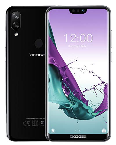 DOOGEE N10 4G Android 8.1 Smartphone Ohne Vertrag Günstig, Dual SIM Handy 19:9 5,84'' FHD+(1080*2280) U-Notch, Octa-Kern 3GB RAM 32GB ROM, 16MP+13MP+16MP Kameras, 3360mAh Fingerabdruck Face ID Schwarz (Aus Handy China)