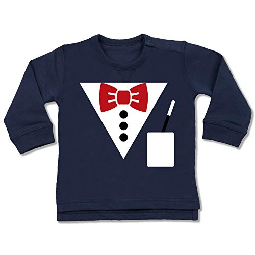 Shirtracer Karneval und Fasching Baby - Magier Kostüm - 6-12 Monate - Navy Blau - BZ31 - Baby (Winter Hexenmeister Kostüm)