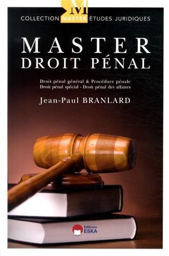 Master droit pénal : Théorie & pratique