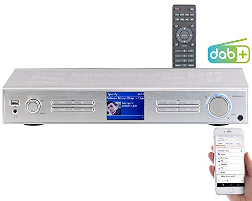 VR-Radio Digital-Radio DAB: WLAN-HiFi-Tuner mit Internetradio, DAB+, UKW, Streaming, MP3, Silber (Internetradio-DAB-FM-Tuner)