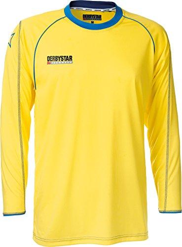 Derbystar Trikot Energy Langarm, 164, gelb blau, 6196164560 (Jugend T-shirt Deutschland)