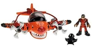 Imaginext - T5309 - Figurine -  Transport et Circulation - Avion Requin Tigre + Figurine