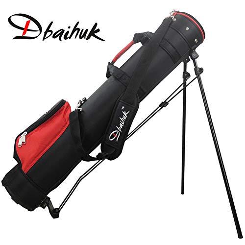 Dbaihuk Nylon Golf Stand Bag Golf Club Carry Umhängetaschen Mit Fußstütze wasserdichte Golfschlägertasche Halten Sie 7-10 Clubs 2-Wege-Einteilungstaschen,Red -