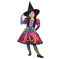 amscan Premium Girls Spellbook Sweetie Witch Costume Kids Halloween Fancy Dress