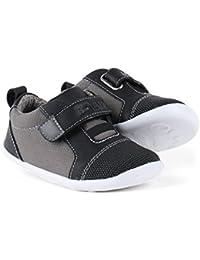 BOBUX - Chaussure I-Walk Blaze grise et bleu clair en tissu et cuir transpirant, extrêmement flexible, garçon, garçons
