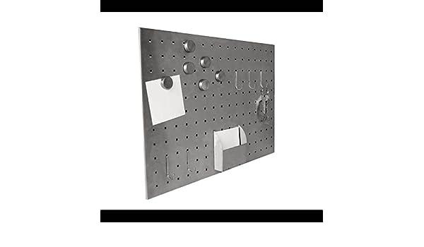 Edelstahl Magnet Schlüsselbrett Memotafel Schlüssel Memo-Board Magnetwand