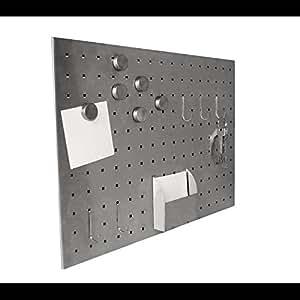 magnettafel edelstahl tafel board pinnwand ablage 50 x 35 cm k che haushalt. Black Bedroom Furniture Sets. Home Design Ideas