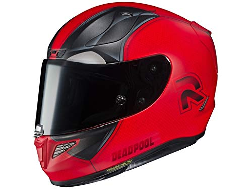 Casque moto HJC RPHA 11 DEADPOOL 2 MARVEL MC1SF, Rouge/Noir, S