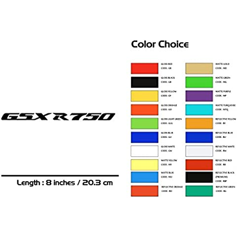 Suzuki GSXR 750 Motorcycle Sticker Stripe Decal Superbike MU