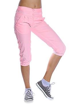 Mädchen Kinder Kurze Hose Bermuda Shorts Capri Vin Sport Strech Neon Farben Rosa 116
