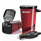 BESTEK Inversor De Corriente 200W 12V A 220V para Coche Cargador De Energía con 2 USB Puertos De 4.8A Y 1 Toma De...