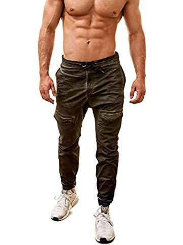 Allied Chino Jogger Jeans, oliv, M = 32
