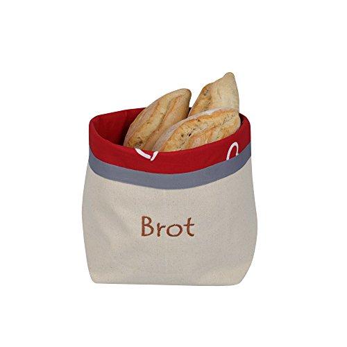 Panera y bolsa de pan para su almacenamiento - 2 en 1. Transpirable y decorativa 31 cm x 35 cm. Con...