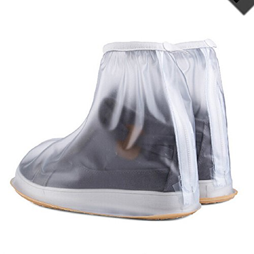 Buwico® 1paire de protection de chaussures haute qualité imperméable pour hommes spéciales vélo Antidérapantes  Blanc Blanc