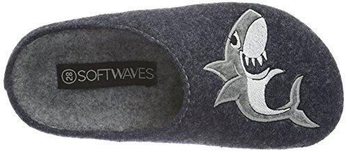Softwaves Jungen Hausschuh Pantoffeln Blau (830 NAVY)