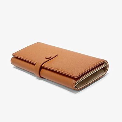 ZLR Mme portefeuille Portefeuille en cuir en cuir de dames Portefeuille en cuir de grande capacité