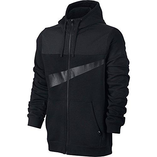 Nike Herren M Nsw Hoodie Fz Fleece Hybrid Trainingsjacke mit Kapuze Schwarz