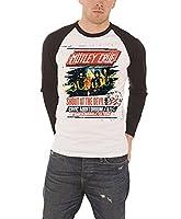 Motley Crue 'Shout At The Devil Tour Poster' Long Sleeve Baseball Shirt (medium)