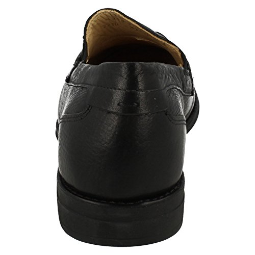 Herren SMART Leder Slip auf Schuhe Barbosa –�?77710 Black Floater