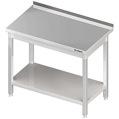 Arbeitstisch mit Grundboden 1500x700x850 mm, mit Aufkantung, Selbstmontage