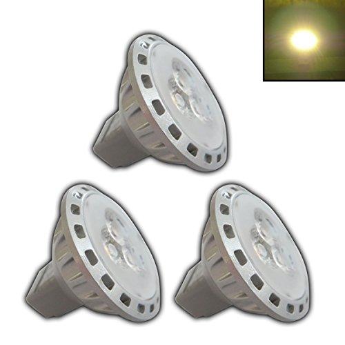 3x Stück - MR11/GU4 LED 2,5 Watt 12V AC/DC warmweiß Spot 30° Grad Energiesparlampe Lampe Strahler 12V~ Wechselspannung (Spot 20w Grad 12)