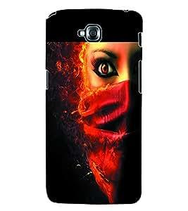 ColourCraft Evil Eye Back Case Cover for LG G PRO LITE D680