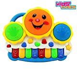 #6: Kids Choice Drum Keyboard Musical Toys with Flashing Lights - Animal Sounds and Songs, Multi Color