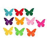 Baoblaze 100 Stück Filz Schmetterling Für Scrapbooking Verschönerung - Mehrfarbig2
