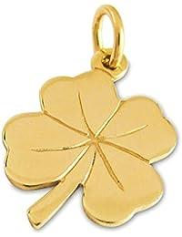 bf1b2fe7be4c Amazon.es  colgante trebol - Oro amarillo  Joyería