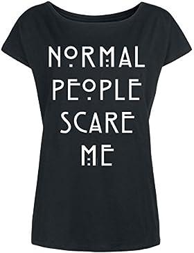 American Horror Story Normal People Camiseta Mujer Negro