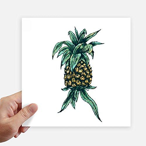 DIYthinker Ananas-Anlage Essen Sie Frucht Green Square Aufkleber 20Cm Wand Koffer Laptop Motobike Aufkleber 4Pcs 20cm x 20cm Mehrfarbig - Frucht-anlage