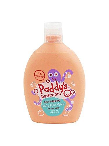 PADDY'S - Limpiador Corporal y Cabello Piña Para Niños - Perfecto Para la Piel Delicada - Con Aloe Vera - 200 ml