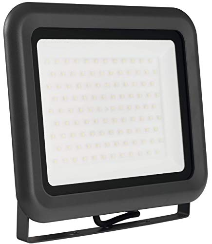 LUMIRA LED Fluter 100W, Ersatz für 1000W Flutlicht-Strahler, Außen-Leuchte für Innen- und Außenbereich, IP65, Kaltweiß