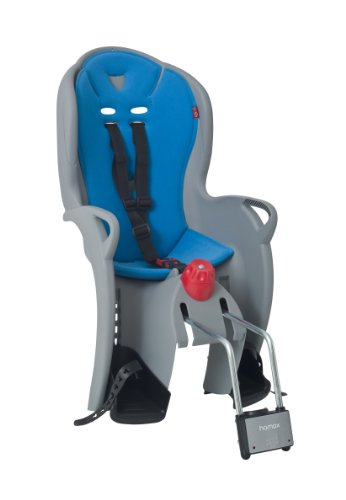 Hamax Kiss - Asiento infantil para bicicleta, color medio gris / azul claro (medium grau/hell blau) - Talla nica