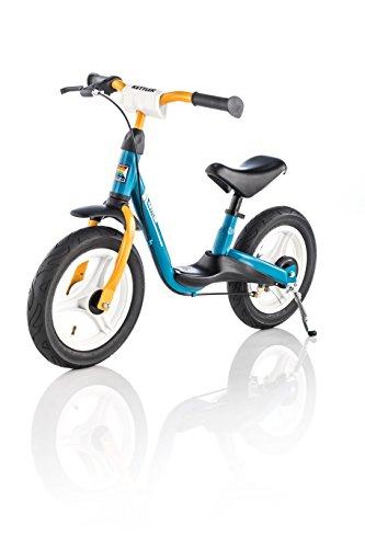 Kettler Laufrad Spirit Air 2.0 - das ideale & verstellbare Lauflernrad - Kinderlaufrad mit Reifengröße: 12,5 Zoll - mit Luftbereifung - stabiles & sicheres Laufrad ab 3 Jahren - blau & gelb - Stahl-trittbrett