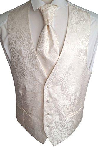 Beytnur Hochzeitsweste mit Plastron, Einstecktuch u. Krawatte Nr. 20.3 Größe 98