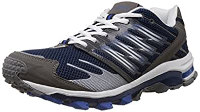 Columbus Men's Planet Navy and Grey Mesh Running Shoes - 11 UK (PLANETNVYGRY011)