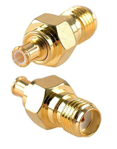 Bnc-2 Stück Plug (BlueBeach® 2 Stück Adapter Konverter MCX Stecker zu SMA Buchse (Nein Pin) für Antenne Plug DVB-T DVBT Koaxial)