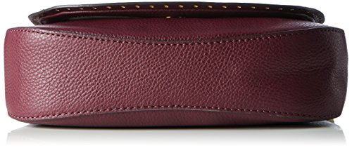 Michael-Kors-Damen-Brooklyn-Md-Saddle-Schultertasche-Violett-Plum-5x16x20-cm