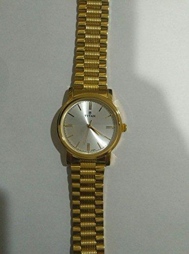41JP0WAFvrL - Titan 1712YM01 Silver Mens watch