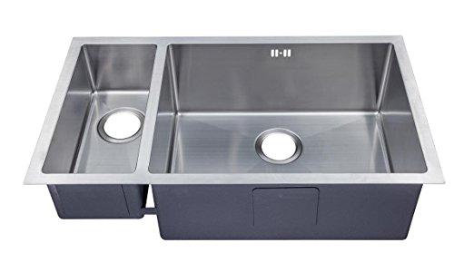 1.5 Hecho a mano de cocina fregadero. Acero inoxidable cepillado para fregadero. Montaje bajo encimera (DS033 R)