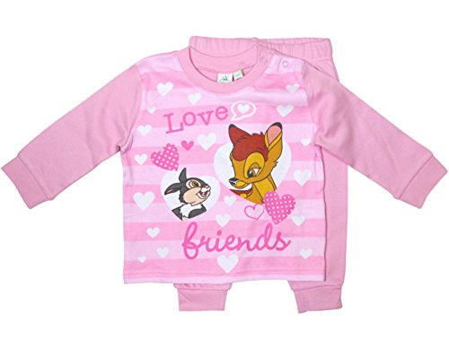 Bambi und Klopfer Kollektion 2018 Schlafanzug 74 80 86 92 98 Mädchen Pyjama Disney Neu Hase Reh Rosa (Rosa, 86 - 92) (Baby-mädchen Disney)
