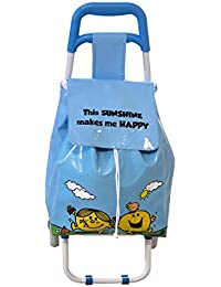 Chariot de course pour enfant bleu Monsieur Madame