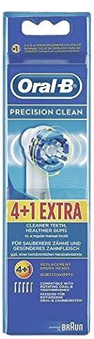 Braun Oral-B Precision Clean Aufsteckbürsten, 2er Pack 4+1 Stück (10 Aufsteckbürsten)